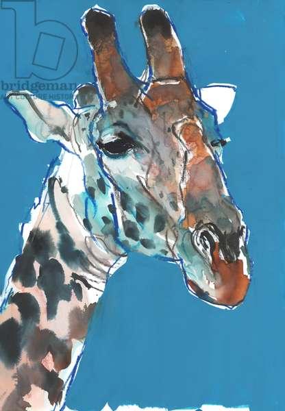 Bull Masai Giraffe, 2018, (mixed media)