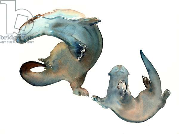 Dancing with Mum, 2014, (watercolour on paper)