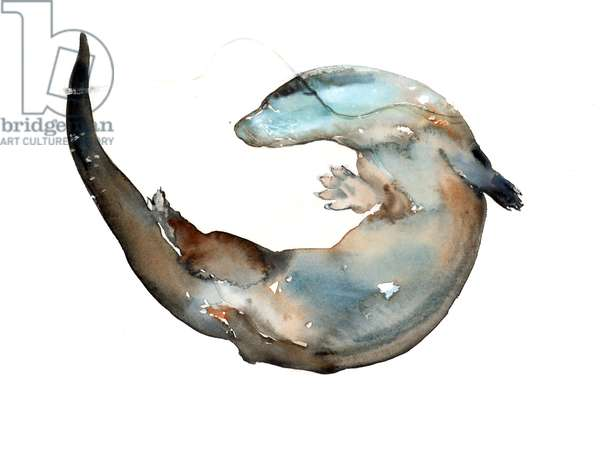 Making Shapes (otter), 2014, (watercolour on paper)