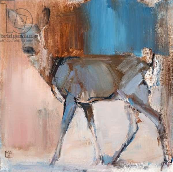 Doe a Deer, 2014, (oil on canvas)