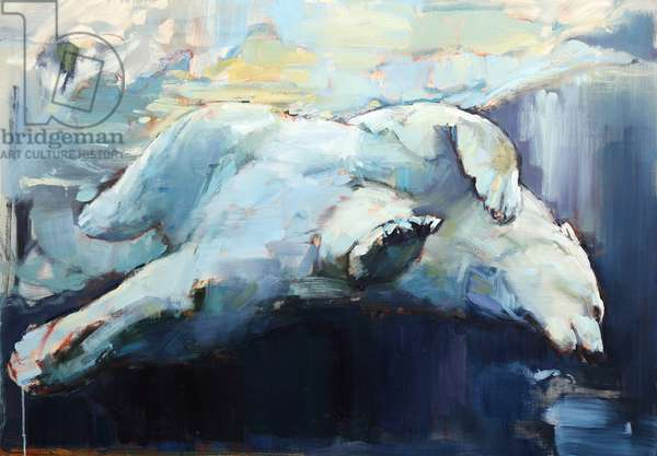 Under the Ice, 2015, (oil on canvas)