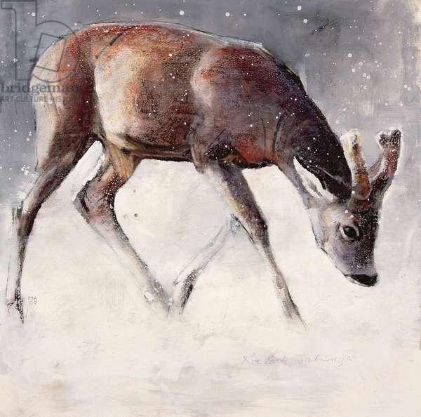 Roe Buck, Winter, 2000 (mixed media on paper)
