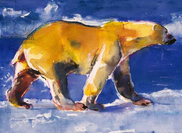 Yellow Bear, 1999 (mixed media on paper)