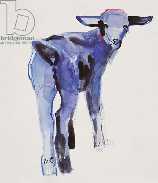 Blue Kid, Cazalla de la Sierra, 1999 (mixed media on paper)