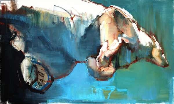 Swim, 2015, (oil on canvas)