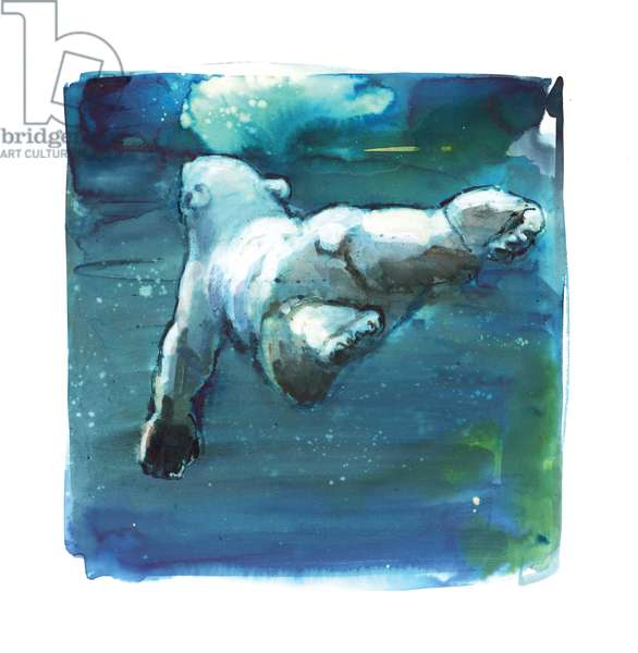 Sub Aqua, 2015, (mixed media on paper)