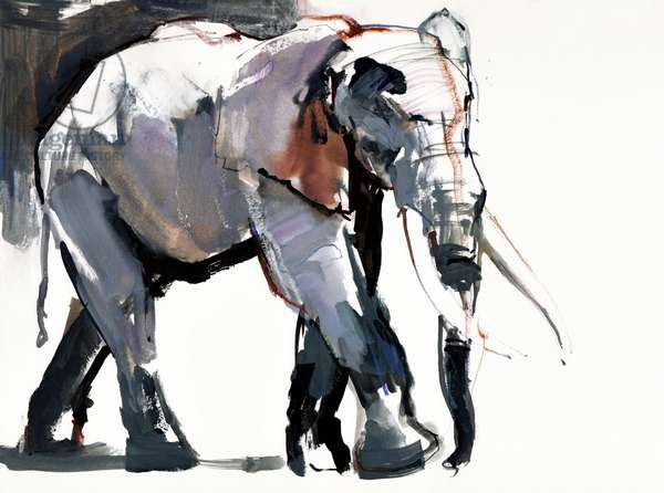 African Elephant, 2012, (mixed media on paper)