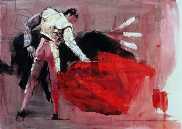 Matador, 1998 (mixed media on paper)