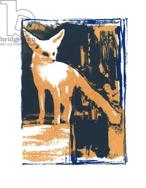 Little Desert Fox, 2015, (screen print)