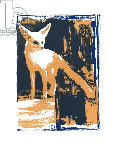 Little Desert Fox, 2015, (screen print)