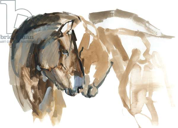 Nose to Nose (Przewalski), 2013 (sennelier ink, watercolour and gouache)