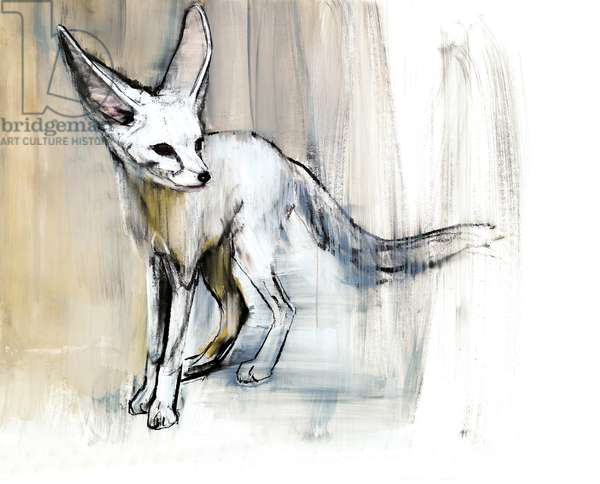 Sand Fox, 2009 (conte & charcoal on paper)
