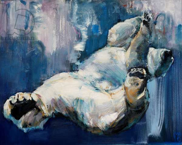 Falling, 2016, (oil on canvas)