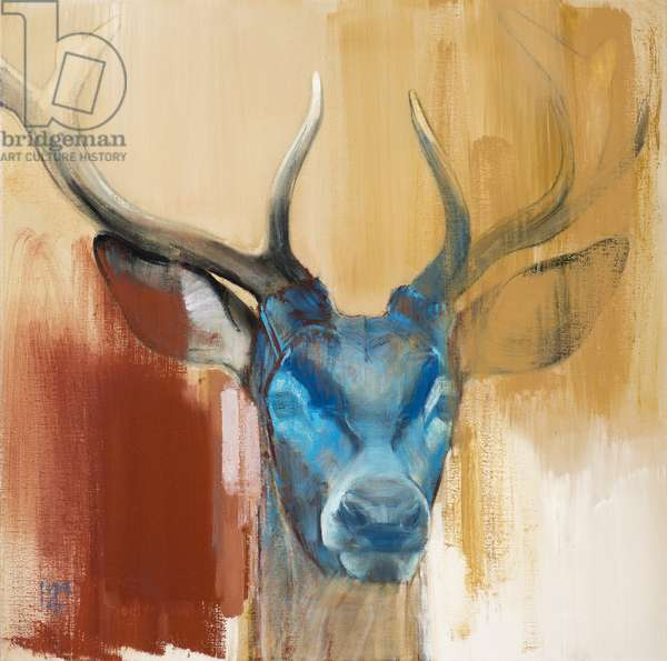 Mask (young stag), 2014, (oil on canvas)