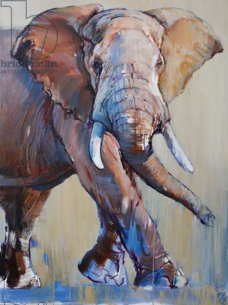 Big Bull, Suiyan, 2018, (oil on canvas)
