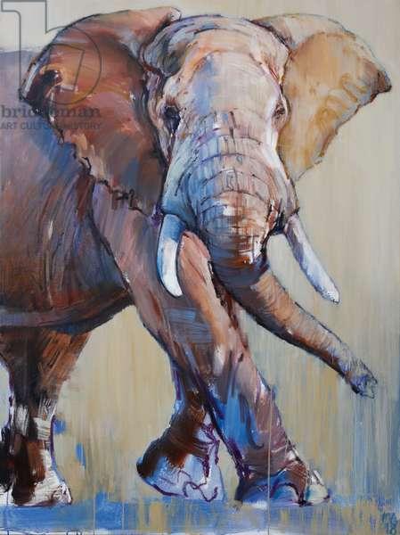 Big Bull, Suiyan, 2018, (oil on canvas)