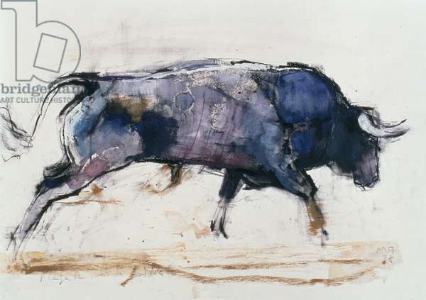 Charging Bull, 1998 (mixed media on paper)