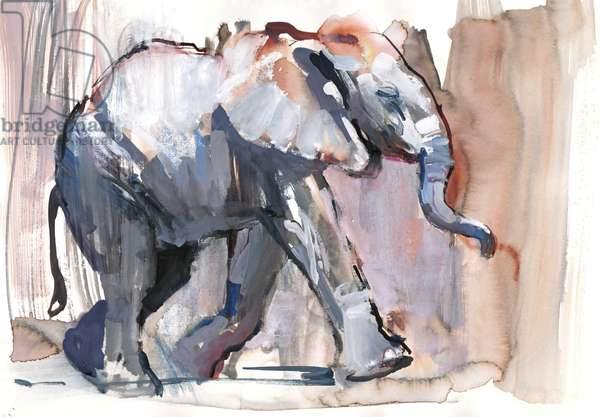 Baby elephant, 2012 (mixed media on paper)