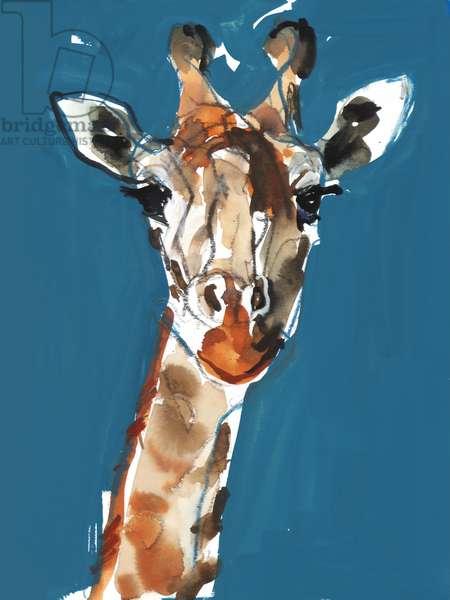 Masai Giraffe, 2018, (mixed media)