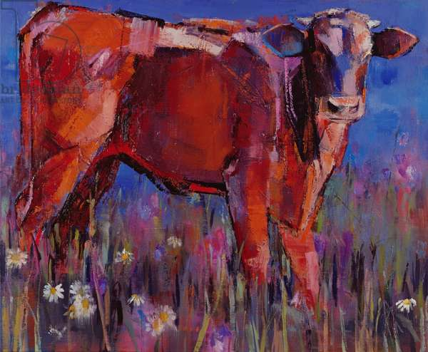 Red Calf, Cazalla de la Sierra, 1999 (oil on canvas)