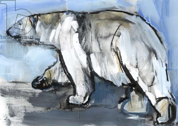Polar, 2013, (mixed media and collage on paper)