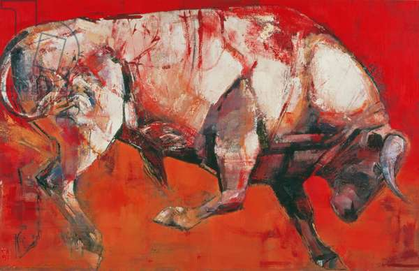 The White Bull, 1999 (oil on board)