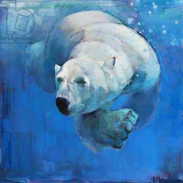 Deep Blue, 2016, (oil on canvas)