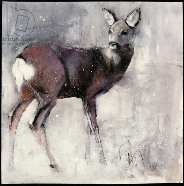 Roe Doe, 2000 (mixed media on paper)