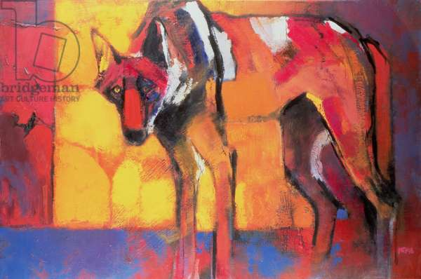 Wolf, 1996 (oil on canvas)