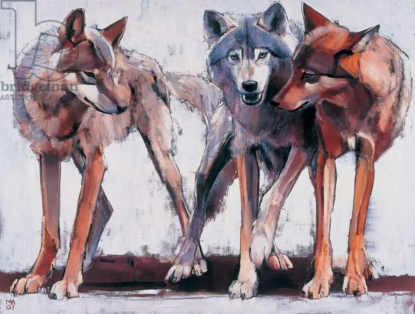 Pack Leaders, 2001 (oil on canvas)