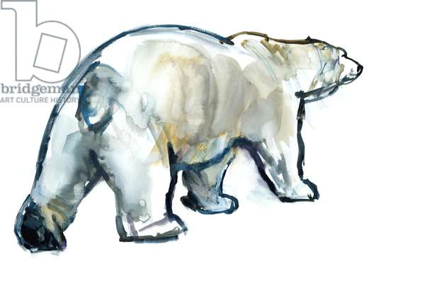 Glacier MInt (Polar bear),2013,(watercolour and gouache on paper)