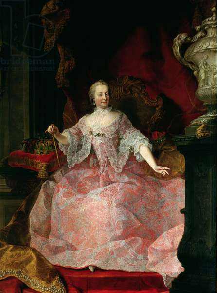 Empress Maria-Theresa (1717-80) 1744 (oil on canvas)