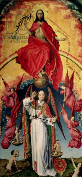 St. Michael Weighing the Souls, from the Last Judgement, c.1445-50 (oil on panel) (see 20546)