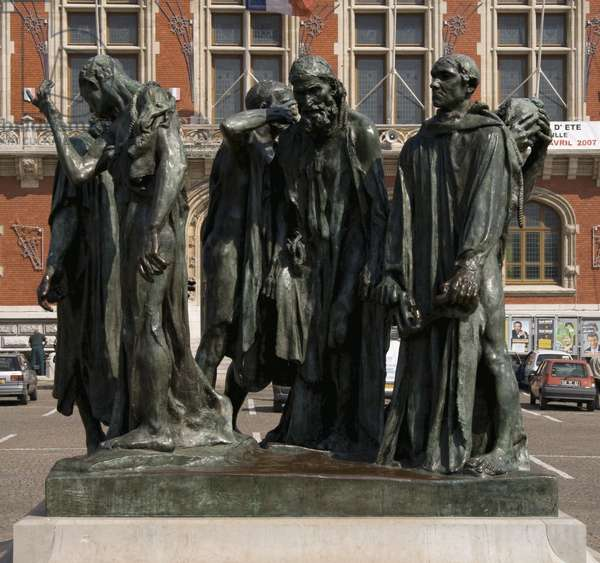 The Burghers of Calais, completed 1889 (bronze)