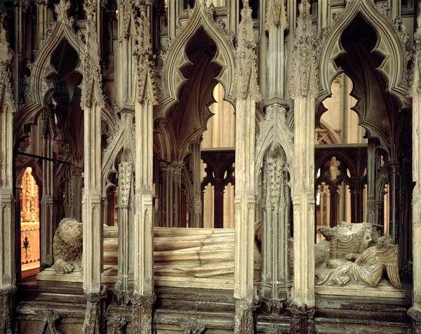 Tomb of Edward II (1284-1327) erected by Edward III (marble)