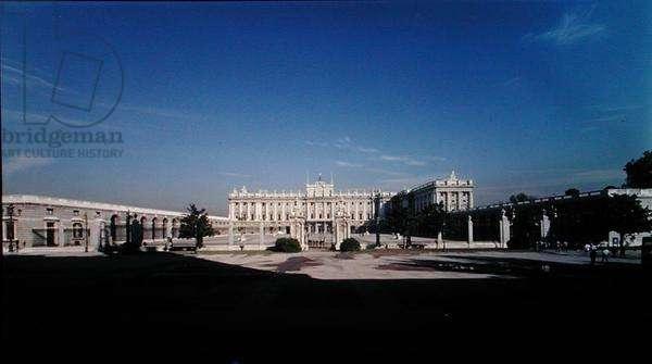 View of the Palacio Real, begun in 1738 (photo)