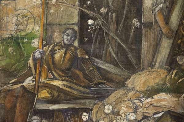 Detail from 'The Risen Christ' (fresco)