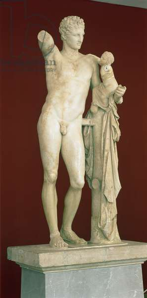 Statue of Hermes and the Infant Dionysus, c.330 BC (parian marble)