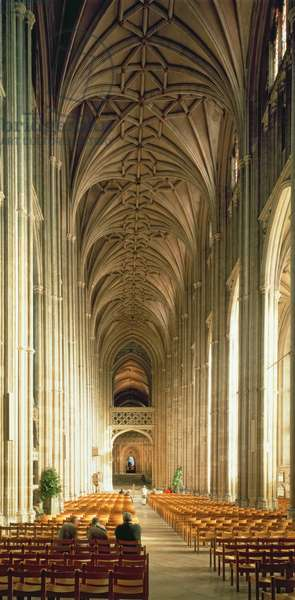 View of the nave, Canterbury Cathedral (photo)