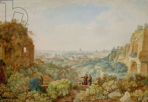 View of Rome from the Palace of the Caesars