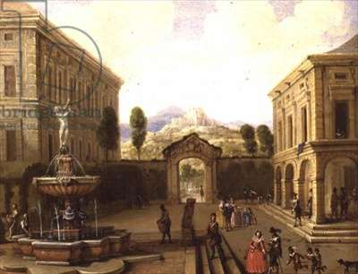 Summer Landscape with a Fountain