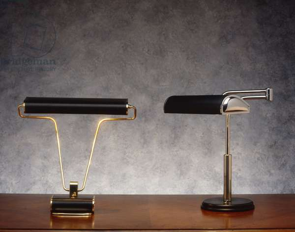 Office lamps, 20th century.
