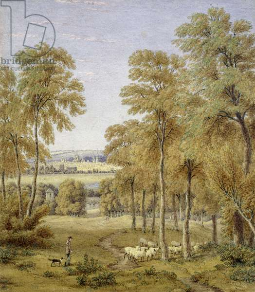 Oxford from Hinksey Ferry, 1852 (w/c)