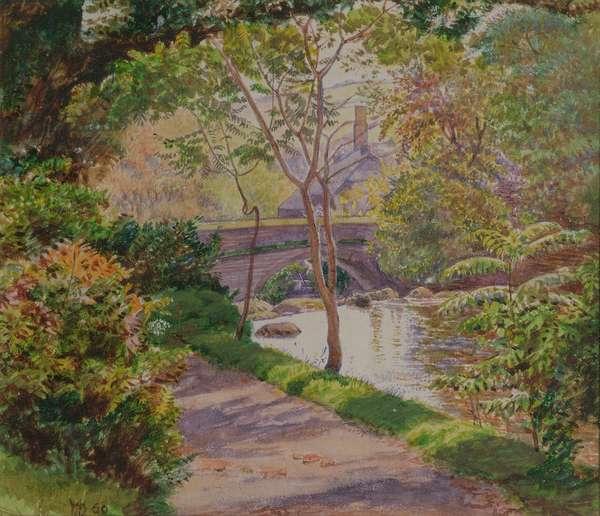 The Ivy Bridge, Devon, 1860 (w/c)