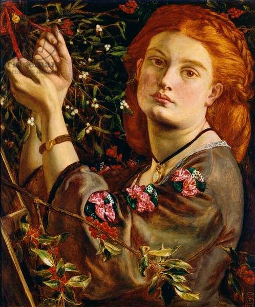 Hanging the Mistletoe, 1860 (panel)