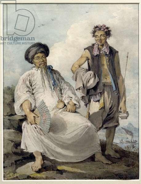 Mandarin with Pipe Bearer, 1795 (w/c)