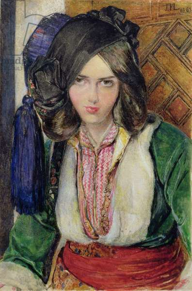 A Turkish Girl, 1863 (w/c)