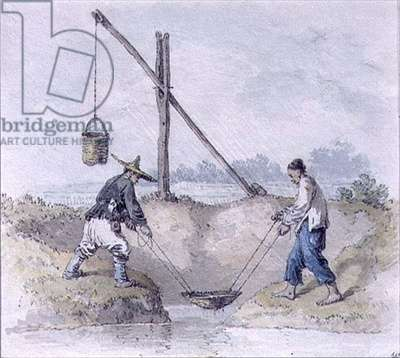 Chinese Labourers Collecting Water (w/c)