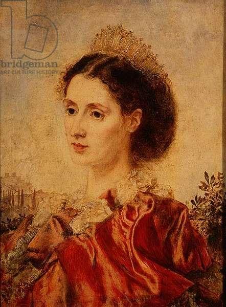 Portrait of Mrs Henry Francis Makins in Fancy Dress (panel)