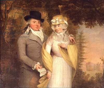 Portrait of a Gentleman and his Wife in a Park